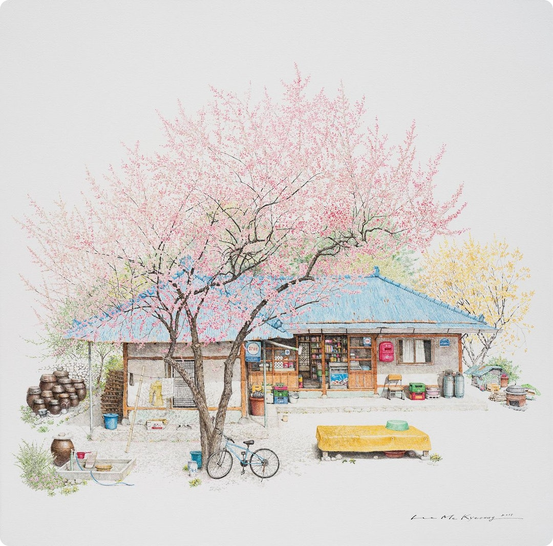 Me Kyeoung Lee's new paintings of South Korea's disappearing corner shops