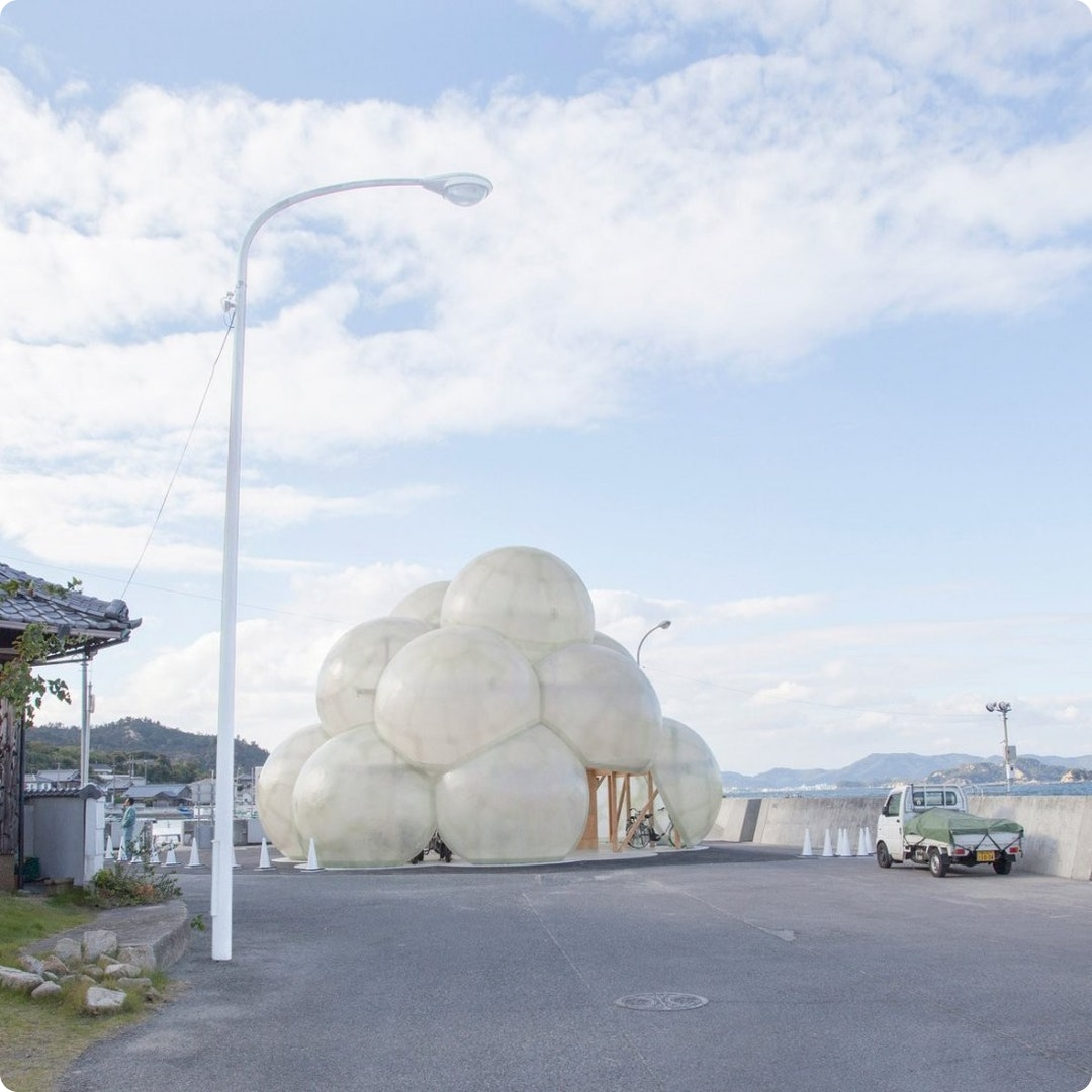 Bubble Bicycle Shelter by SANAA