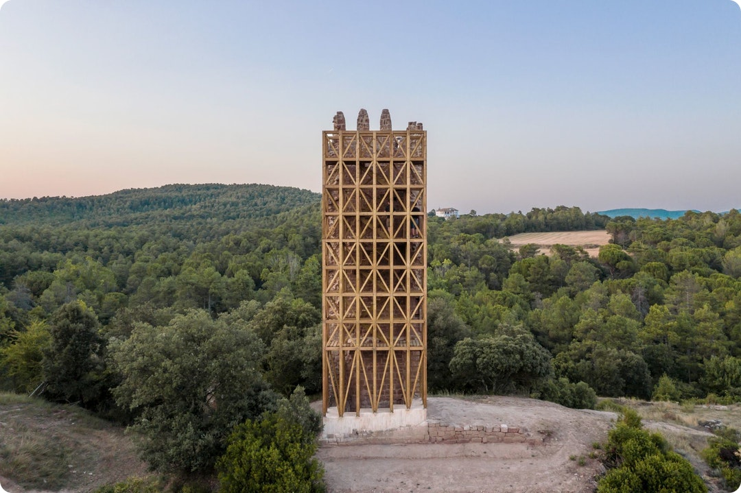 Recovery of Merola's Tower by Carles Enrich Studio