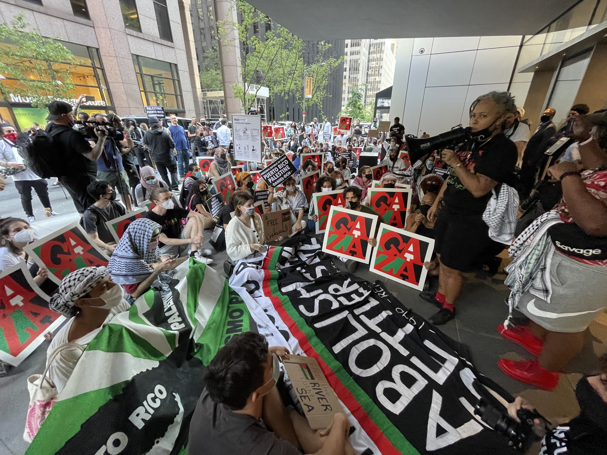300+ Activists Blockade Entrance of MoMA, Condemning Ties to Violence Against Palestinians
