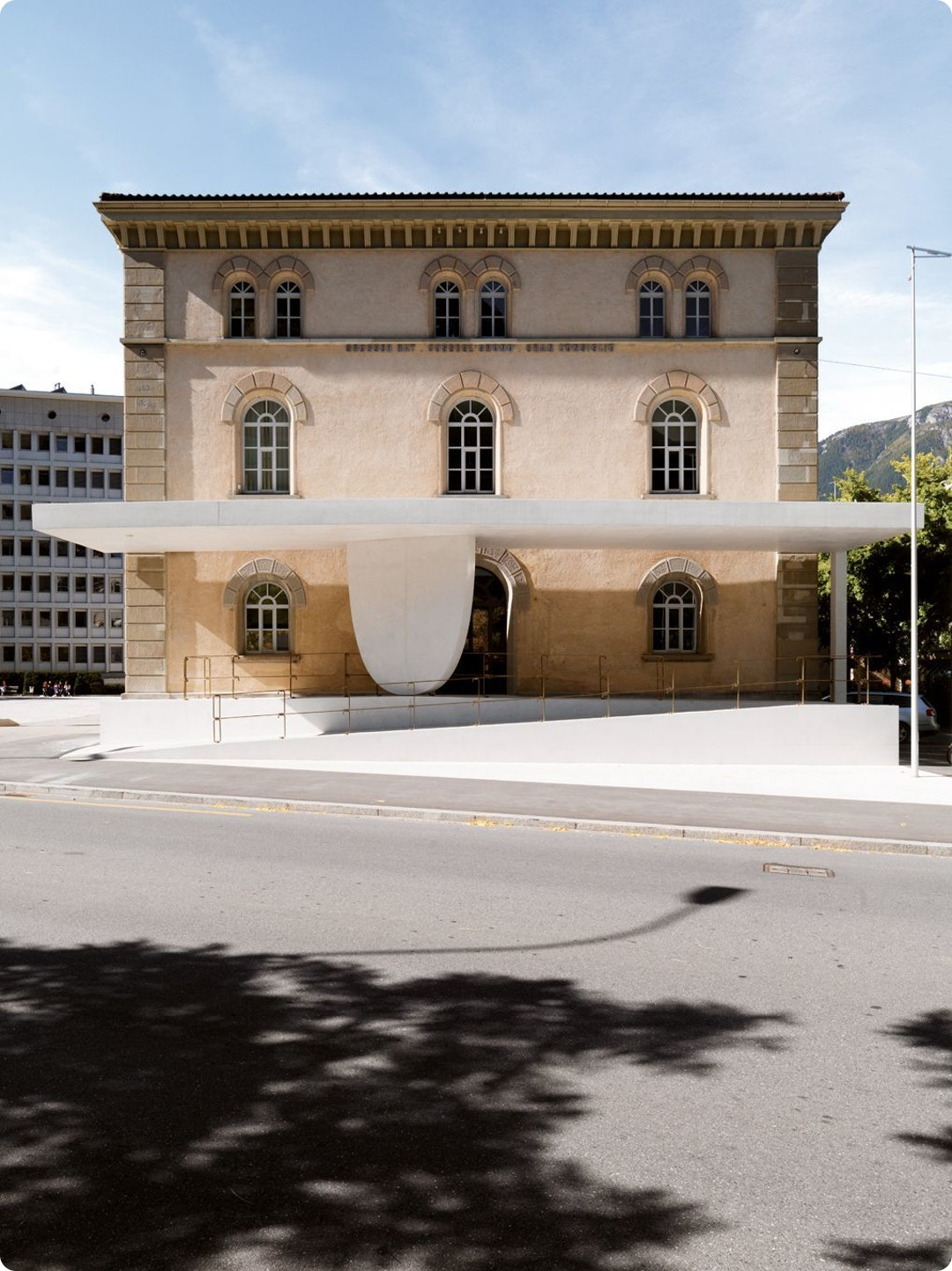 Entrance of the Grisons Parliament by Valerio Olgiati